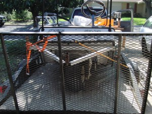 Front view of the trailer with new ramp.  Ramp made loading so much easier.