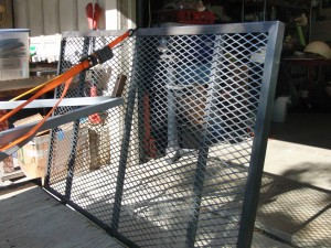 Another view of the trailer ramp that Tom built.