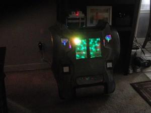 Robot Art Car Face with lighting.