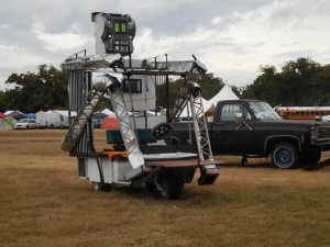Robot art car at Art Outside 2015